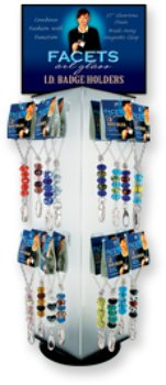 - Facets Art Glass I.D. Badge Holders Case Pack 36 Computers, Electronics, Office Supplies, Computing