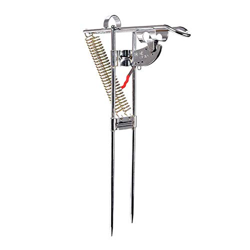 Hooapoun Fishing Rod Holder with The Best Sensitive Stainless Steel Automatic Tip-Up Hook Setter and Detachable Folding Portable Fish Rod Holder (Style 1) (Hook Ice Setter Automatic Fishing)