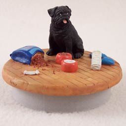 Conversation Concepts Miniature Pug Black Candle Topper Tiny One