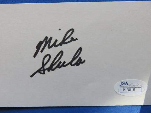 THE SHULA FAMILY SIGNED MAGAZINE PAGE & 2 3x5 INDEX CARDS ~ CERTS JSA Certified NFL Cut Signatures