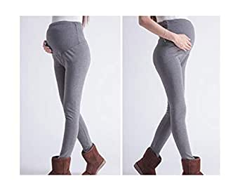 Pregnant Women Winter high Waist Solid Color Abdominal