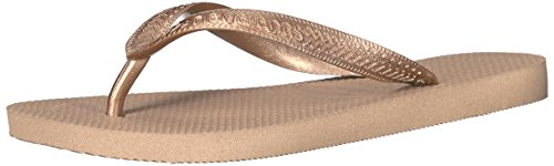 Havaianas Women's Flip Flop Sandals, Top Tiras Grape Wine,Rose Gold,35/36 BR (6...