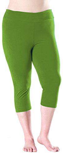 - Lush Moda Extra Soft Leggings - Variety of Colors -Plus Size Yoga Waist - Olive