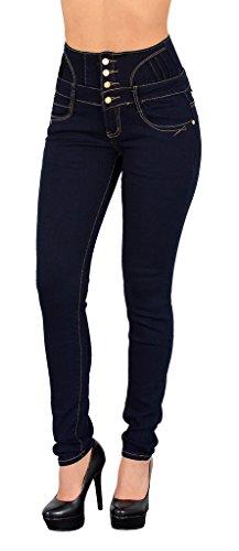 femme Jeans tex Bleu pantalon en haute by skinny femme Jean taille jean J22 qIgqw6E