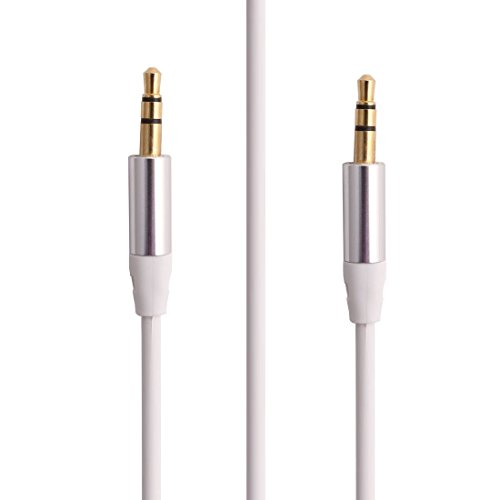 Amazon.com: DealMux Headphone PC Phone 3,5 mm macho para macho M / M Stereo Aux cabo de áudio cabo branco: Electronics