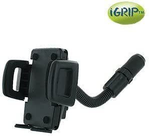 iGrip Handsfree car phone Holder KIT with Cigarette Lighter Mount for the Samsung Galaxy Note 4, Note 5, S4, S5, S6, S7, S6 Active, S6 Edge, S7 Edge