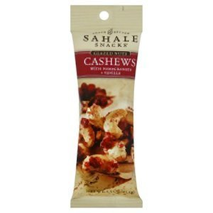 Sahale Snacks Naturally Pomegranate and Vanilla flavored Cashews Glazed mix 1.5oz (Pack of 9)