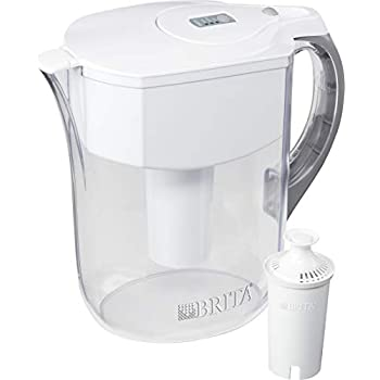 Brita Grand Pitchers, Large 10 Cup, White