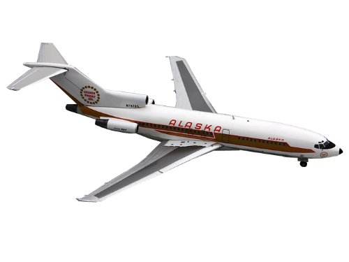 Gemini Jets B727-100 Alaska Airlines Golden Nugget Diecast Vehicle, Scale 1/200