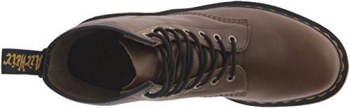 Dr. Martens–1460Carpathian Grenade Green 8fori stivali in pelle con cuciture giallo Black Oliva
