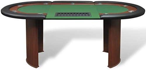 Xinglieu Mesa de Poker 10 Jugadores Puesto Dealer Bandeja Chip ...