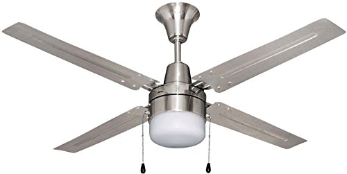 Craftmade BEA48BNK4C1 Beacon 48 Ceiling Fan with LED Light Kit, 4 Blades, Brushed Polished Nickel