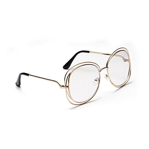 UV400 Sunglasses Unisex Polarizado Portección polarizadas Sol al Libre Aire Vintage Gafas Clásico Redondo metálico inspirado de 1Aaw0Af