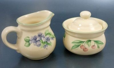 Pfaltzgraff Garden Party Creamer & Sugar Set