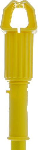 Carlisle 36947504 Commercial Jaw Clamp Fiberglass Wet Mop Handle, 60'', Yellow by Carlisle (Image #1)