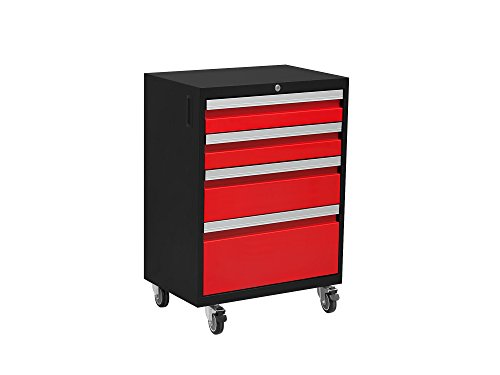 NewAge Products 50241 Bold 3.0 Rolling Tool Cabinet, Red