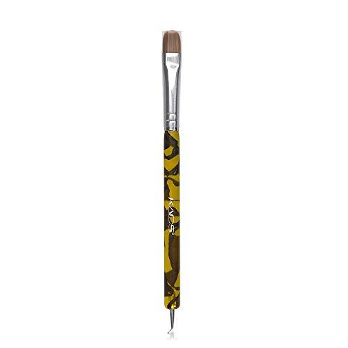 KADS Kolinsky Sable Brush 2 Way Acrylic Professional French Manicure Clean-up Brush Nail Art Brush Bend Nail Dotting Pen (Dl Professional French Manicure Clean Up Brush)