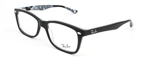 Occhiali Da Vista Ray Ban Rx5228 Nero Opaco Su Tex Camuflage
