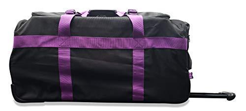 Marco Polo Air Lite wheeled travel duffel bag (Black/Purple - 32