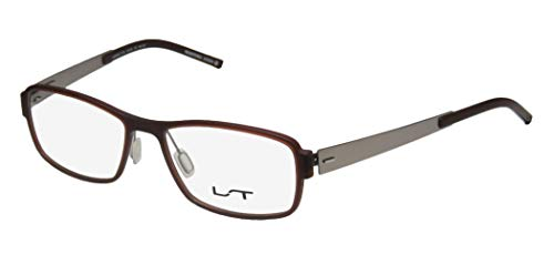 Lightec By Morel 7117l Mens/Womens Designer Full-Rim Shape Flexible Hinges Simple & Elegant Cold Insert Eyeglasses/Eyeglass Frame (53-16-140, ()