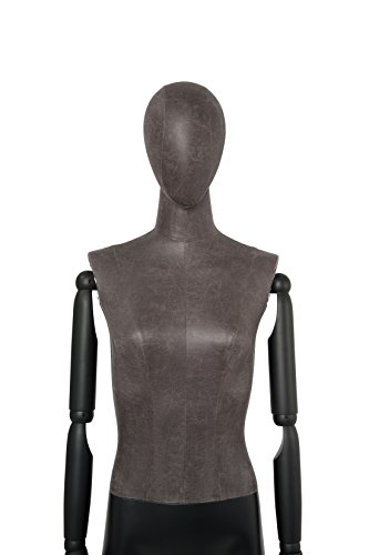 Newtech Display MAF-ARM2-1/BLLE Female Mixed Material Mannequin with Black Leatherette Head and Torso by Newtech Display (Image #5)