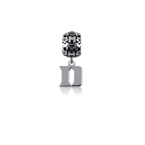 Duke University Blue Devils Sterling Silver Jewelry by Dayna Designs (Mom Charm Bead)