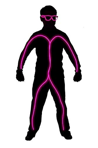 Light up Stick Figure Costume Kit Includes Lights,Shades-Clothing Not Included (Small 3-5 FT Tall, Pink)