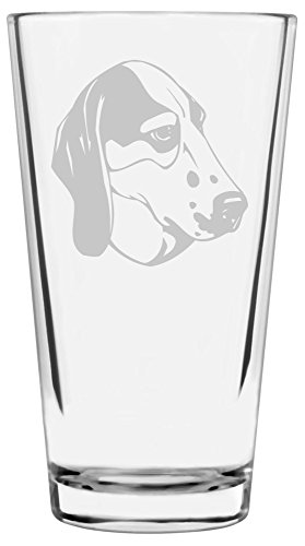 Treeing Walker Coonhound Dog Themed Etched All Purpose 16oz Libbey Pint ()