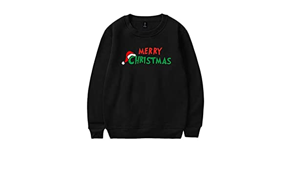 DEELIN Camisas De Manga Larga, Unisex Navidad De Ella Viene ...