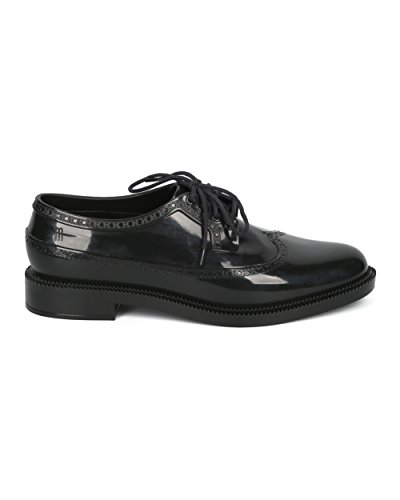 Melissa Women Lace Up Toeschouwer - Jelly Loafer - Comfortabele Casual Chic Tuxedo-schoen - Classic Brogue By Black