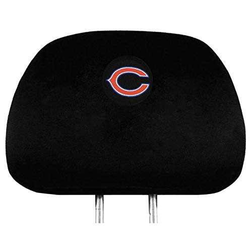 NFL 2 Pack Car Seat Headrest Covers - Pick Chicago Bears