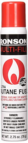 Ronson 99146 2 Large Lighter Butane Refill 78 Grams 2.75 Ounce (Pack...