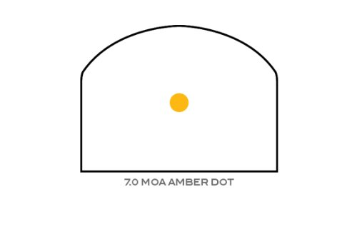 Trijicon RM04-35 RMR 7 MOA Dual-Illuminated Amber Dot Sight with RM35 Full Size ACOG Mount with Bosses by Trijicon (Image #5)
