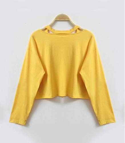 Manches Longues Shirt Beikoard Tops Chemisier Jaune Causal Femme Femme Mode Top Imprimer Rose Sweat Mode Imprimé Pull Rose r0IqIRX