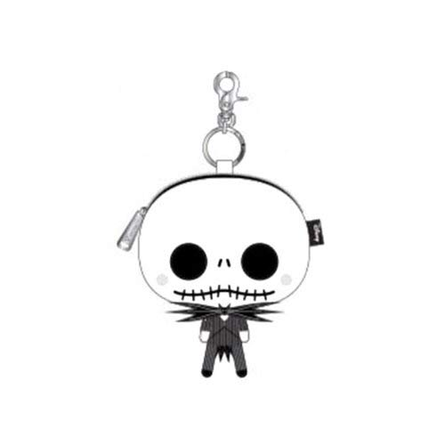 Loungefly Nightmare Before Christmas Chibi Jack Coin Bag,Black/White