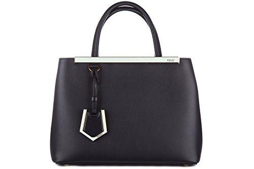 Fendi sac à main femme en cuir petite 2 jours blu