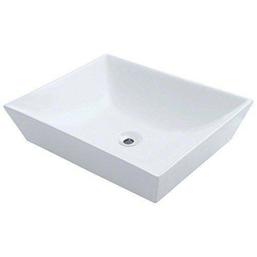 V370-W White Porcelain Vessel Lavatory Sink Rectangular Vessel Lavatory Sink