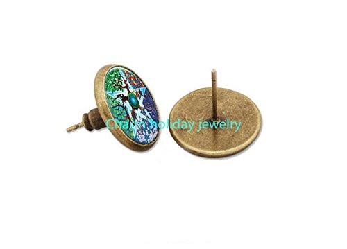 Dean Winchester Halloween Costumes (PENTAGRAM Stud Earrings, Wicca Earrings, Wearable Art, Stud Earrings, Art Earrings, Glass Earrings, Handmade Jewelry)