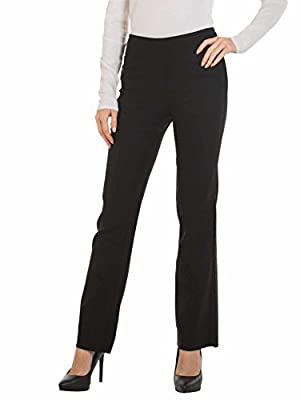 Womens Bootcut Stretch Dress Pants - Comfy Pull On Style, Red Hanger,