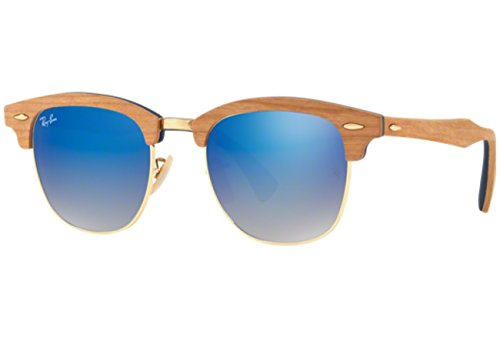 Ray-Ban-Mens-Clubmaster-m-Non-Polarized-Iridium-Square-Sunglasses-Shiny-Gold-51-mm