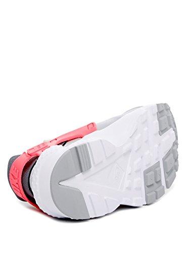 Nike Mädchen Huarache Run (GS) Laufschuhe, Schwarz/Pink Grau, Weiß, Rosa (Wlf Grey / White-Cl Gry-Hypr Pnk)