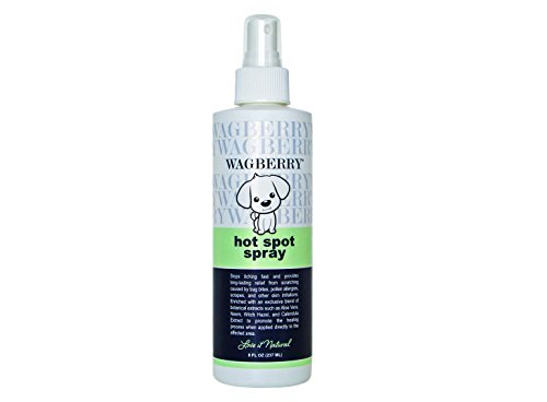 Wagberry Soothing Hot Spot Spray - Natural Remedy For Dry And Itchy Skin, Antiseptic & Antifungal And Anti Itch Spray For Dogs, Soothing Plant Based Pet Treatment - Best Healing Allergies Itching Skin Relief For Dogs - LOVE IT NATURAL, Made In USA, 8oz -  W2076-SC