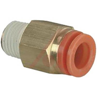 SMC KQ2H03-35S connectors - kq2 fitting family kq2 5/32 - fitting, male connector *lqa - package of 10