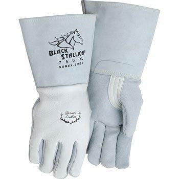 Black Stallion 750 Premium Grain Elkskin Stick Welding Gloves, Medium (Gloves Welding Stallion Black)