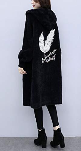 Con Suéter Invierno Sección Mujer De Capucha Lana B Chaqueta Abrigo FwxF18Cn