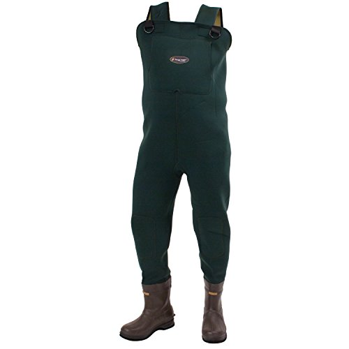 - Frogg Toggs Amphib Neoprene Bootfoot Chest Wader, Cleated Outsole, Forest Green, Size 7