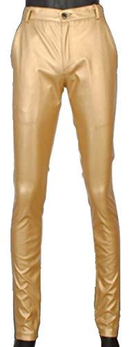 Uomo Gold In Da A Tubo Skinny Mode Pelle Pantaloni Vita Slim Ts003de Sintetica Di Jeans Marca Bassa awIxnBWqWf