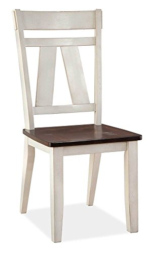 (Bernards Side Chair in White Finish - Set of 2)