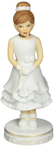 "Communion First Figurine Girl (Enesco Growing Up Girls ""Brunette First Communion"" Porcelain Figurine, 5"")"