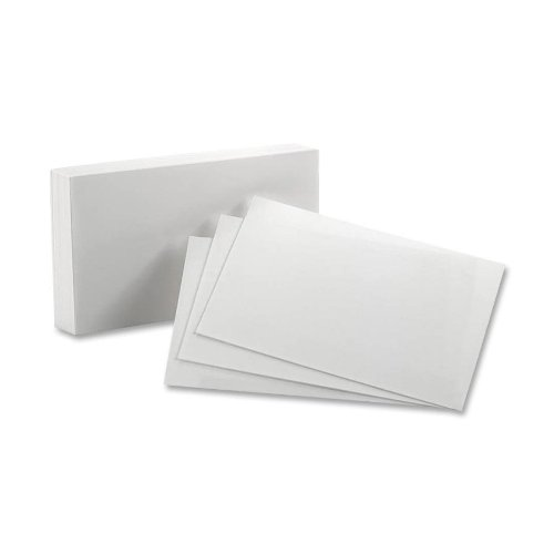 Esselte Pendaflex - Unruled Index Cards, 5 x 8, White, 100 per Pack - Pack of 70 by Oxford